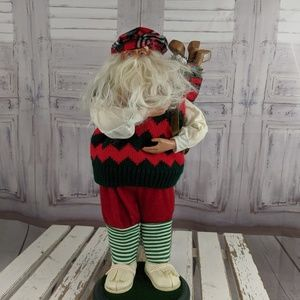 Santa golf golfing decor statue figurine large 16″